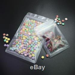 Various QTY Flat Frosted Round Corner Poly Plastic Ziplock Bag Outer Size 5.5x8