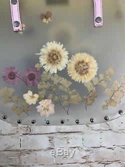 Vintage Kate Spade Cabo Floral Handbag Purse Basket Clear Plastic RARE