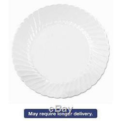WNA Classicware Plates, Plastic, 10.25 in, Clear, 18/Bag, 8 Bag/C 007450621021