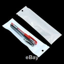 White Clear Plastic for Zip Retail Pearl Lock Packaging Hang Bags Accessories