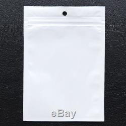 White Clear ZipLock Bags Plastic Retail Packaging Pouches Reclosable Hang Hole