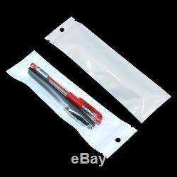 White Grip Self Press Seal Resealable Poly Polythene Zip Lock Plastic Bags Pouch