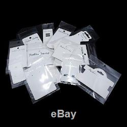 White Kraft Paper Label Tag with Clear OPP Plastic Packaging Bag Set for Jewelry